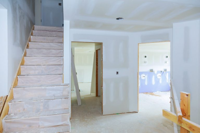 gypsum board ceiling at construction interior house alterations works